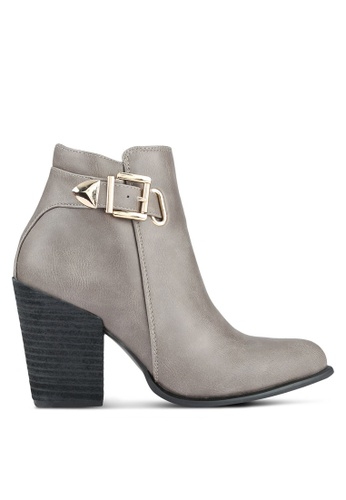 addicts anonymous grey Wera Buckle Boots AD479SH0RL6CMY_1