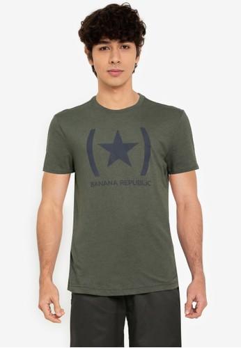 Banana Republic green V Star Logo - Eco Graphic Tee C3C8CAA9BEFA5EGS_1