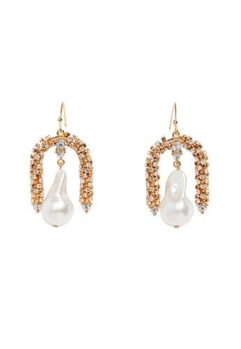Mango gold Mixed Pendant Earrings CC7FEAC1241F7FGS_1