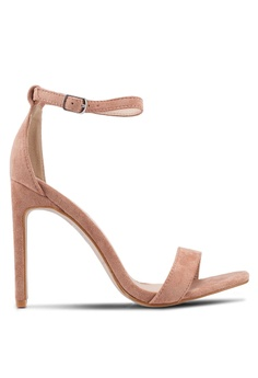 fe6119e981ef Public Desire pink Crown Square Toe Barely There Heels 18398SH724B20FGS 1