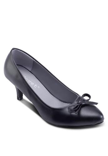 撞色尖頭低跟細跟鞋esprit 西裝, 女鞋, 厚底高跟鞋