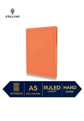 Collins orange Collins Kenrich   ─  Notebook A5 Ruled Orange E0A4FHL3254D11GS_1