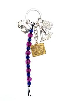 Dice Beads Cards Sailboat Slot Machine Bag Charm Key Chain