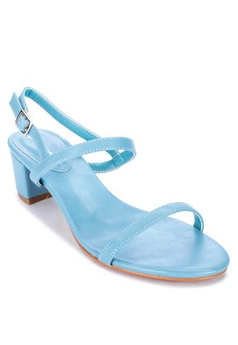 Primadonna blue Block Strappy Heels 5429DSHBEBEA9AGS_1