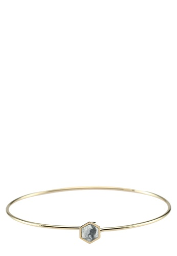 CLUSE 金色 Idylle Gold ​Marble Hexagon Bangle 7FF80ACA150337GS_1
