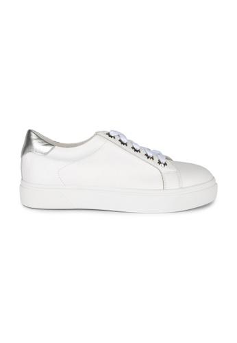 MAUD FRIZON white Calf Leather Sneaker With Floral Grommets ED4CCSHFC00ECBGS_1