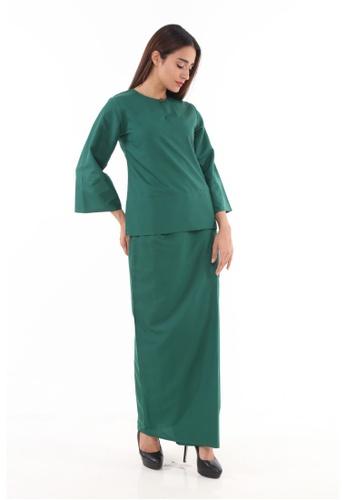 Amar Amran green Baju Kurung Kedah Qaseh 9D5DBAA6ECCE33GS_1
