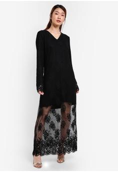 Maxi dress saiz besar murah
