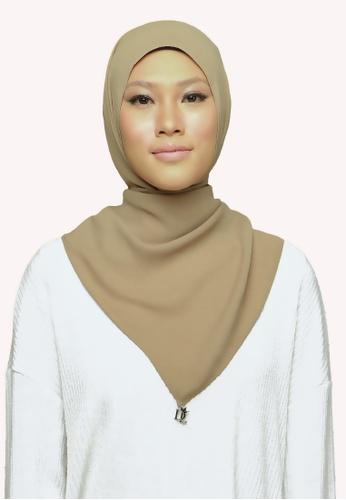 De Leuca brown De Leuca Jolie Shawl - Brown CF7CFAC31602ABGS_1