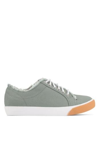 Something Borrowed green Raw Edge Sneakers 3F650SHB873B69GS_1