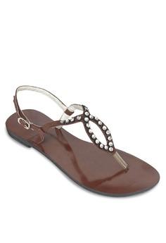 Brown Flat Sandals