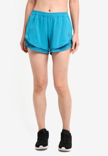 Odlo blue Maia Shorts 9F6E5AA702BEF0GS_1