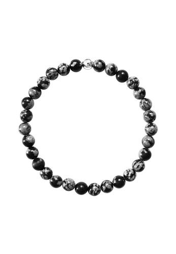 Snowflake Obsidian Stone Bracelet