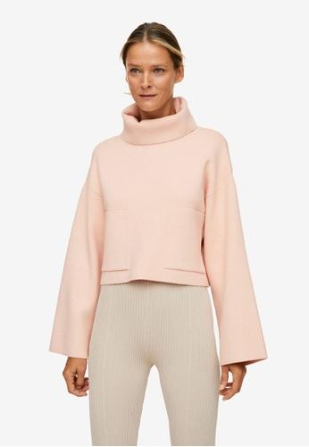 Mango pink Funnel Neck Knit Sweater D79AEAAF1F3B4EGS_1