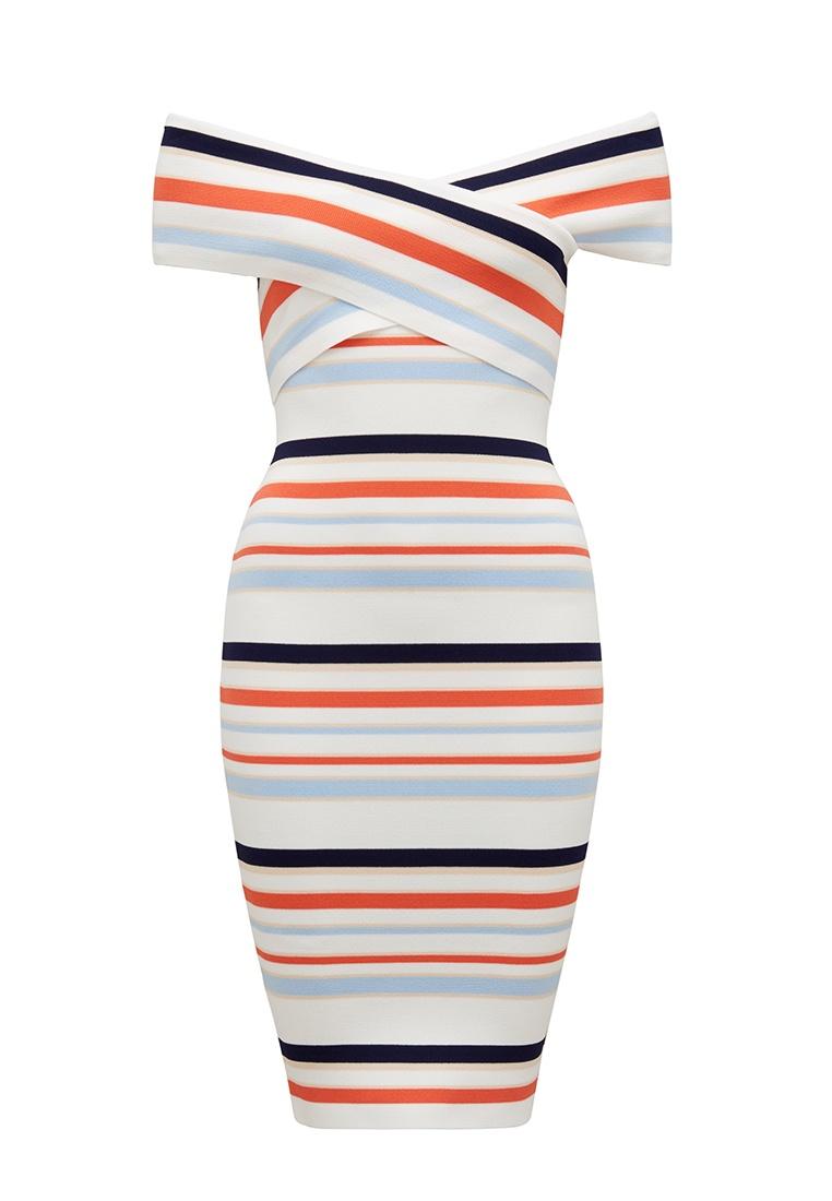 Stripe Dress Striped New Arianna Forever Bardot Y8XwqxZ
