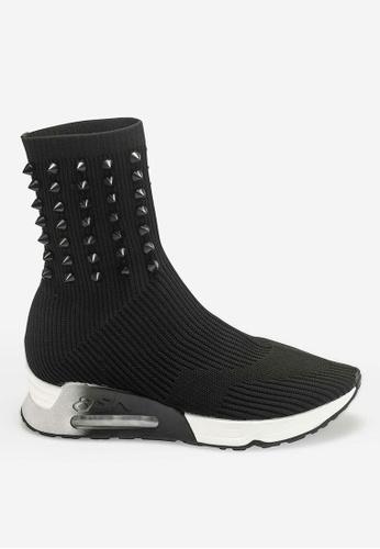 ASH 黑色 Lock - 黑色鉚釘刺繡運動鞋 E2A47SHC13A001GS_1