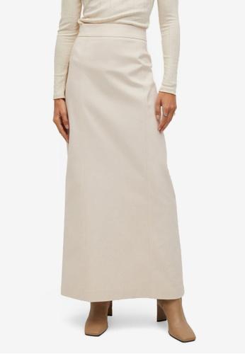 Mango beige Flared Long Skirt 5A445AA33A61EDGS_1
