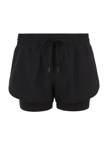 MARKS & SPENCER black M&S Layered Running Shorts 507D2AA3CDD881GS_1