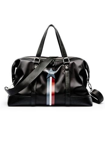 Lara 黑色 男士單肩手提旅行袋 6958FAC602CF5CGS_1