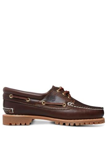 Timberland brown Heritage Noreen 3-Eye Handsewn Boat Shoe TI324SH68GRRHK_1