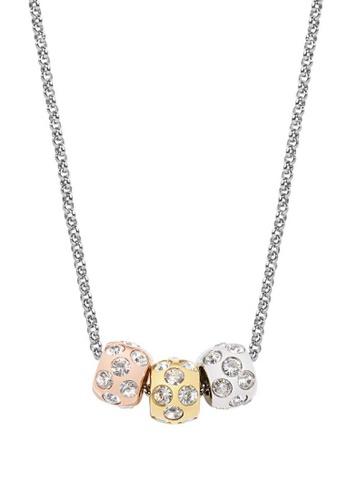 Morellato multi Drops Necklace SCZ335 Steel Gold PVD Rose Gold PVD Crystals 7EB64ACA196496GS_1