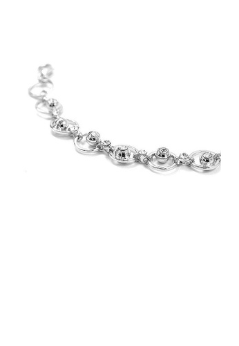 Glamorousky silver Fantastic Circle Bracelets with Silver Austrian Element Crystals FC6EFAC541A6D3GS_1