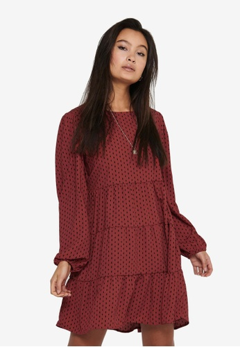 JACQUELINE DE YONG brown Swing Mini Dress E86FBAA194EED1GS_1