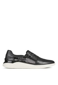 092efc0d03e9b Geox black Theragon Sneaker 1F3BDSH3FDC9BAGS_1