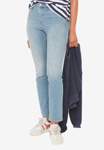 Old Navy blue High-Waisted Light-Wash Straight-Leg Jeans F1130AAD9AC70FGS_1