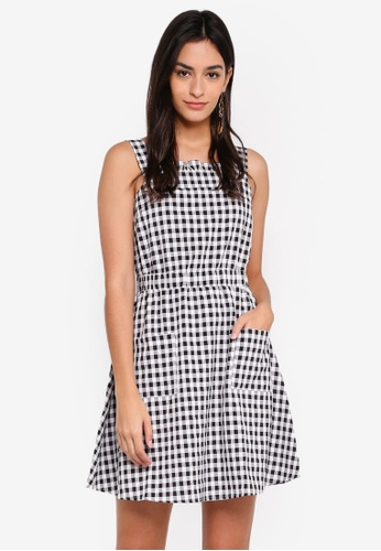 ZALORA black and white Strap Dress FB074AA6458C2BGS_1