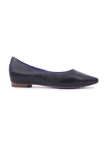 Flatss & Heelss by Rad Russel black Crosshatch Pointy Flats - Black E503CSHA39D0CAGS_1