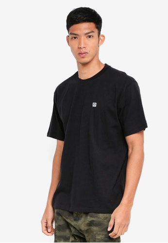 OBEY 黑色 素色短袖T恤 93F49AA7DDEB7CGS_1