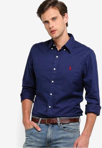 38337c997 Polo Ralph Lauren navy Long Sleeve Button Down Sport Shirt  6FA14AA3EB770BGS_1