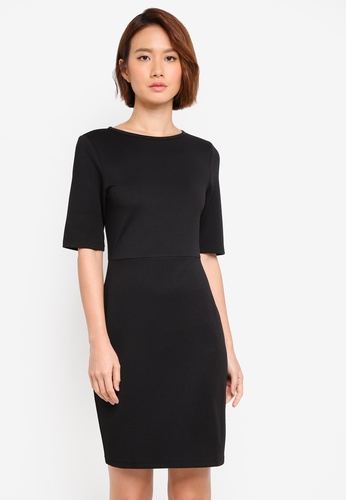 ZALORA black Bodycon Midi Dress A9CA2AA98F450DGS_1