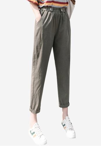 Twenty Eight Shoes grey VANSA Cotton Linen High Waist Causal Pants  VCW-P2303 F7352AA4D27306GS_1