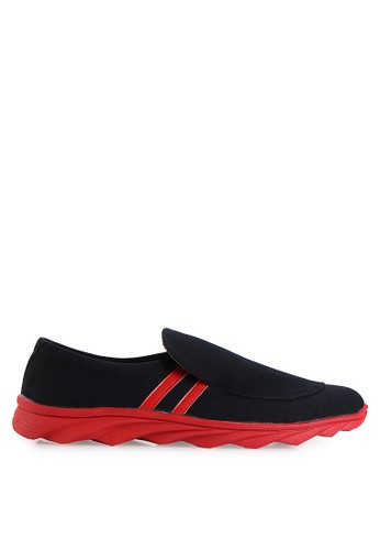 Dr. Kevin black Loafers, Moccasins & Boat Shoes Shoes 13270 Htitam/Merah Denim DR982SH17MHMID_1