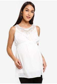 5cf35d442f56d Mama.licious Nursing Dina Tess Short Sleeve Jersey Top RM 149.00 · Maternity  Ritta Woven Top