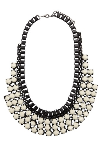 Acrylic esprit hkGemstone Box Chain Bib Necklace, 飾品配件, 飾品配件