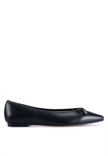 TOPSHOP 黑色 Alicia Soft Ballet Pumps 50C68SH43A009CGS_1