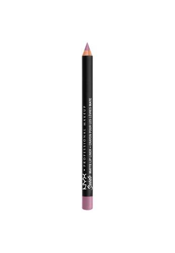 NYX Professional Makeup purple NYX Professional Makeup Suede Matte Lip Liner - SMLL  63 - VIOLET SMOKE FA757BEA69CF8EGS_1