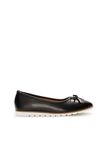 SEMBONIA black SEMBONIA Synthetic Leather Ballet Flat (Black) 08272SH9239EE7GS_1