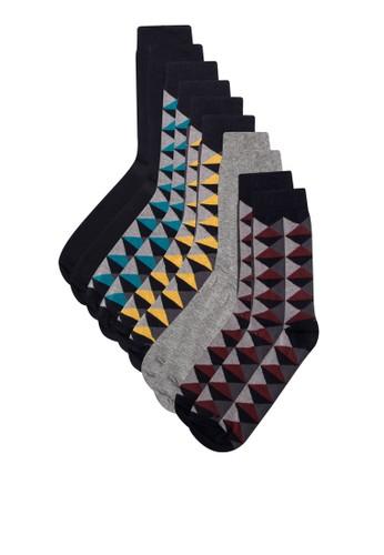 五入印花針織襪子組, 服zalora是哪裡的牌子飾, 服飾