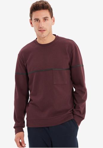Trendyol red Burgundy Sweatshirt BD0A2AAF74F345GS_1