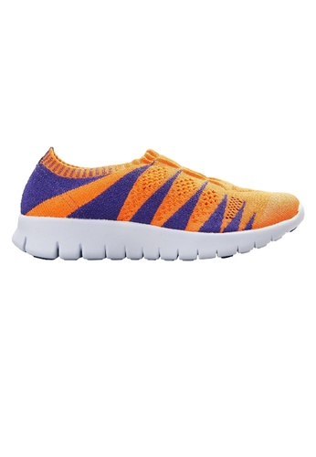 F-KNIT orange Ladies Colourful Slip-Ons FK273SH45AIGHK_1