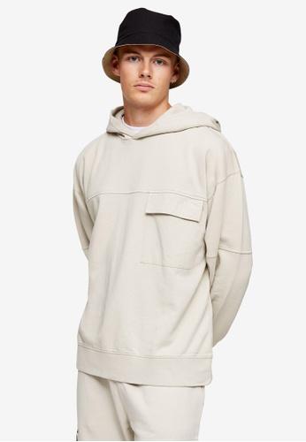 Topman multi Stone Twill Pocket Crew Sweatshirt 0780DAAB4819CBGS_1