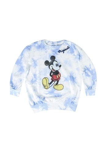 GAP blue Mickey Tie Dye Sweatshirt 7E3A7KACA91586GS_1