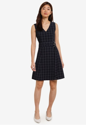 ZALORA navy Double D-Ring Dress C5603AA4FC0DCAGS_1