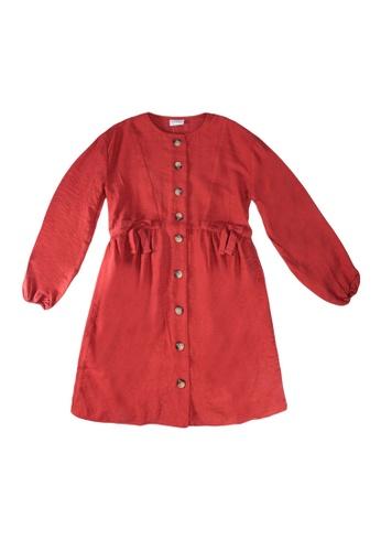 LC Waikiki red Girl's Bow Knot Detailed Viscose Dress 7756CKA62DC75DGS_1