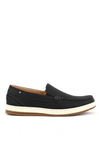 7soles black Jackson Mens Slip On Sneakers 38B2CSHAE0BFEBGS_1