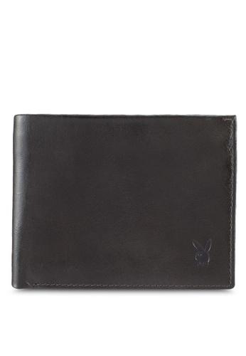 Playboy grey Playboy Genuine Leather Wallet 26B6AACFC9AE93GS_1